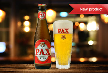 Pax Pils lager available in Thailand from Belbev asia