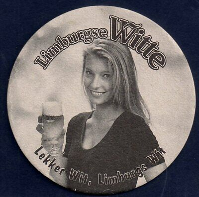 pretty girl on limburgse witte beer mat